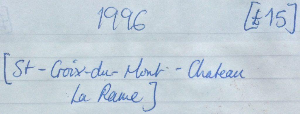 La Rame 1996