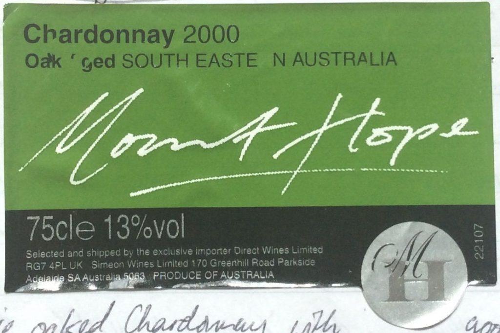 Cheap Aussie Chardonnay