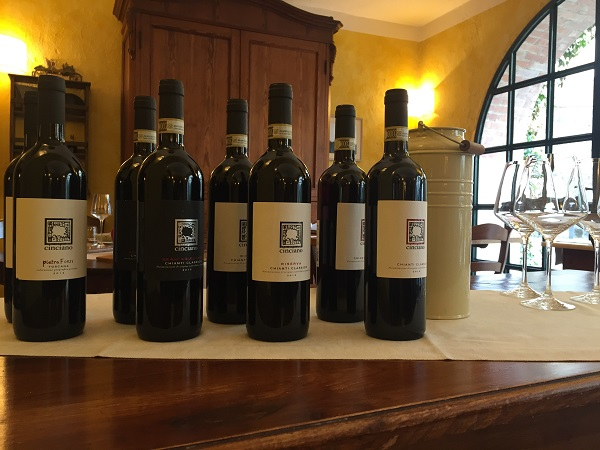 Lunch Chianti Classico wines