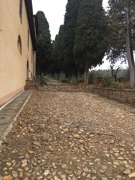 Roman road in Cinciano