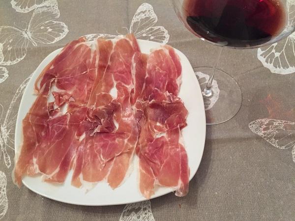Prosciutto Toscano sliced gambetta