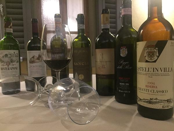 Chianti Classico wine bottles