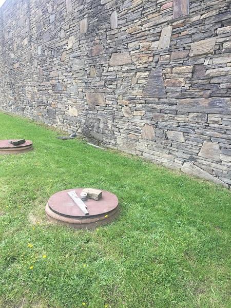 Buried amphorae