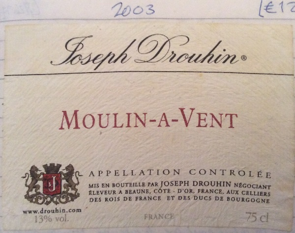 Joseph Drouhin Moulin-a-Vent 2003