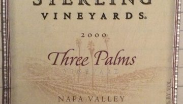 187. Sterling Vineyards, Napa Valley Merlot Three Palms Vineyard, 2000