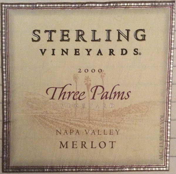 Sterling Three Palms Merlot 2000