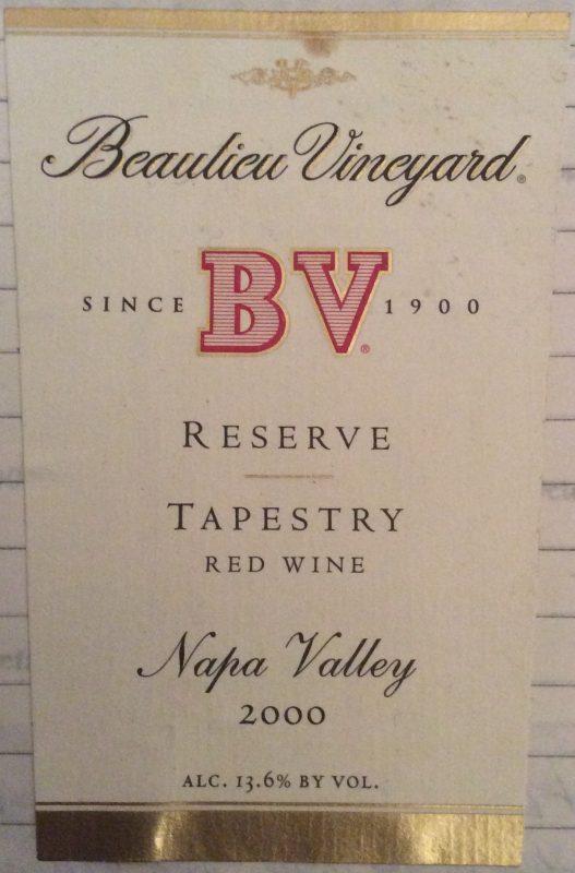 BV Tapestry Reserve Napa 2000