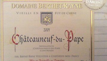 192. Domaine de Berthet-Rayne, Châteauneuf-du-Pape, 2001