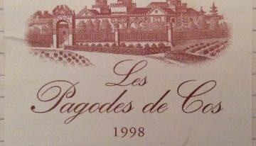 193. Château Cos d'Estournel, Les Pagodes de Cos Saint-Estèphe, 1998