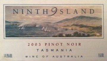 199. Ninth Island, Pinot Noir Tasmania, 2003