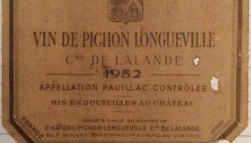 202. Château Pichon-Longueville Comtesse de Lalande (Louis Eschenauer), Pauillac, 1952