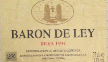 206. Baron de Ley, Rioja Gran Reserva, 1994