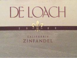 208. De Loach, Zinfandel California, 2000