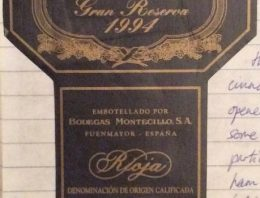 215. Bodegas Montecillo, Rioja Gran Reserva, 1994