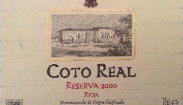 231. El Coto de Rioja, Rioja Reserva Coto Real, 2000