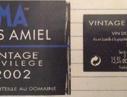 253. Mas Amiel, Maury Vintage Privilège Vin de Liqueur, 2002