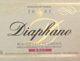 257. Vignerons du Sieur d'Arques, Blanquette de Limoux Brut Diaphane, 2001