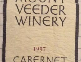 267. Mount Veeder Winery, Cabernet Sauvignon Napa Valley, 1997