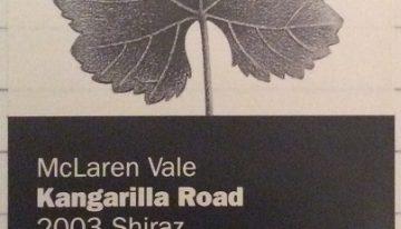 284. Kangarilla Road, McLaren Vale Shiraz, 2003