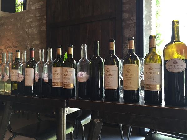 Contino wines tasted in the bodega