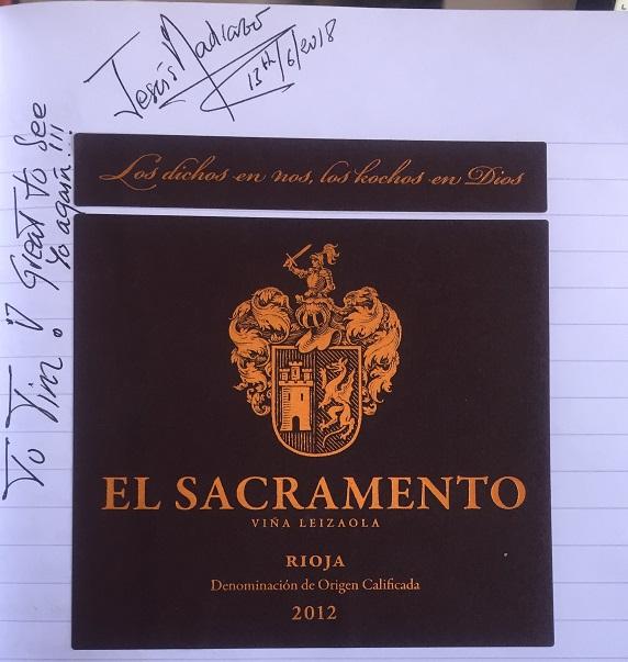 El Sacramento Rioja 2012 winebook Book 7