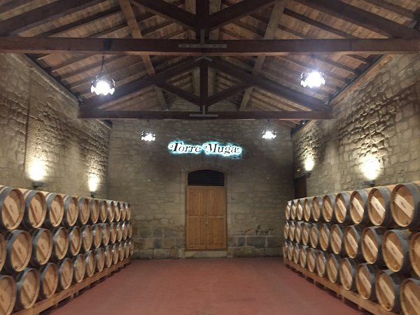 Torre Muga barrel room
