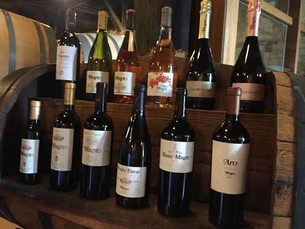 Muga wine range