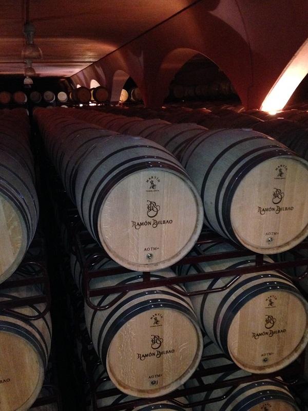 French oak barrel cellar