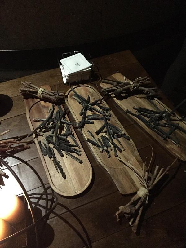 Vine cane olive sticks
