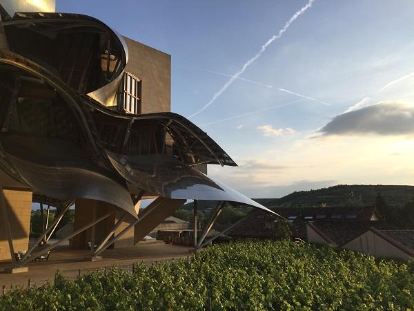 Marqués de Riscal Gehry hotel sunset