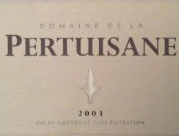 323. Domaine de la Pertuisane, Domaine de la Pertuisane VdP Côtes Catalanes, 2003