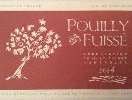 335. Vins des Personnets, Pouilly Fuissé, 2004