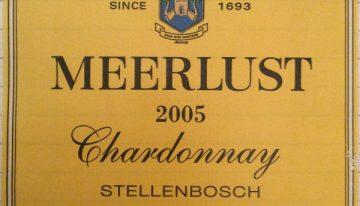 351. Meerlust, Chardonnay Stellenbosch, 2005