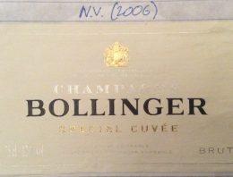352. Champagne Bollinger, Special Cuvée, NV (2006)