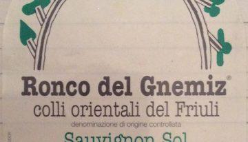 353. Ronco del Gnemiz, Sauvignon Sol Colli Orientali del Fruili, 2004