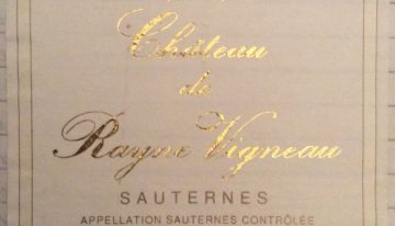 360. Château de Rayne Vigneau, 1er Cru Classé Sauternes, 1999