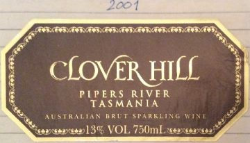 364. Clover Hill, Pipers River Tasmania Australian Brut Sparkling Wine, 2001