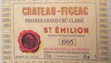365. Château-Figeac, Saint Emilion 1er Grand Cru Classé, 1995
