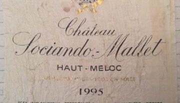 366. Château Sociando-Mallet, Haut-Médoc, 1995
