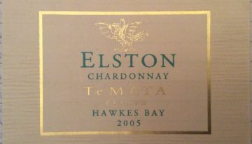 368. Te Mata Estate, Elston Chardonnay Hawkes Bay, 2005