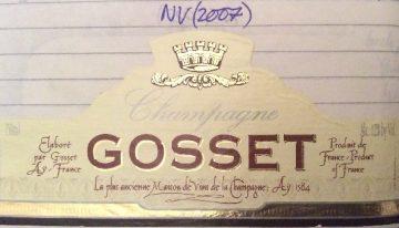 371. Champagne Gosset, Brut, NV (2007)