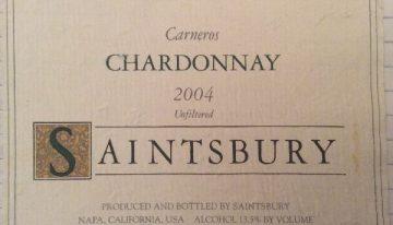 372. Saintsbury, Carneros Chardonnay, 2004