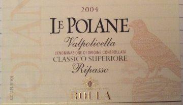 375. Bolla, Le Poiane Valpolicella Classico Superiore Ripasso, 2004
