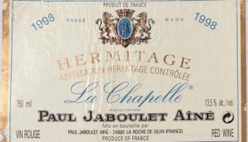 377. Paul Jaboulet Aîné, Hermitage La Chapelle, 1998