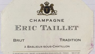 378. Champagne Eric Taillet, Brut Tradition, NV (2007)