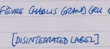 380. Domaine William Fèvre Chablis Grand Cru Bougros, 1999