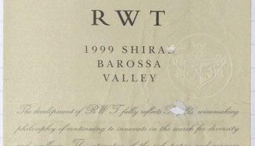 384. Penfolds, RWT Shiraz Barossa Valley, 1999