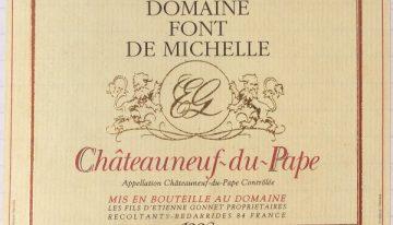 392. Domaine Font de Michelle, Châteauneuf-du-Pape, 1998