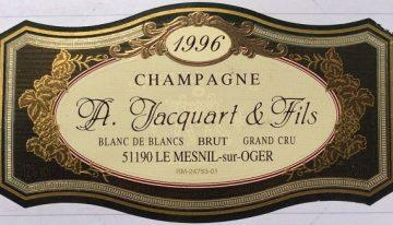395. Champagne A. Jacquart & Fils, Blanc de Blancs Brut Grand Cru Le Mesnil, 1996