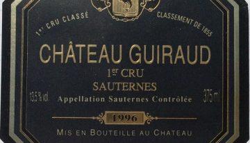 396. Château Guiraud, Sauternes 1er Cru Classé, 1996